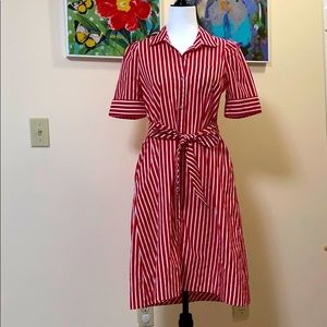 🆕 Maeve by Anthropologie Red Stripe Dress